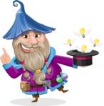 Wizard with Beard Cartoon Vector Character AKA Osborne the Magic Virtuoso - Idea