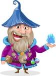 Wizard with Beard Cartoon Vector Character AKA Osborne the Magic Virtuoso - Magic 3