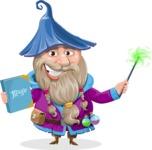 Wizard with Beard Cartoon Vector Character AKA Osborne the Magic Virtuoso - Magic 4