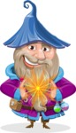 Wizard with Beard Cartoon Vector Character AKA Osborne the Magic Virtuoso - Magic 5