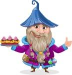 Wizard with Beard Cartoon Vector Character AKA Osborne the Magic Virtuoso - Cookies