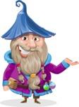 Wizard with Beard Cartoon Vector Character AKA Osborne the Magic Virtuoso - Showcase 1