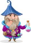Wizard with Beard Cartoon Vector Character AKA Osborne the Magic Virtuoso - Decoction 1