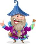 Wizard with Beard Cartoon Vector Character AKA Osborne the Magic Virtuoso - Decoction 2