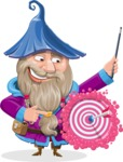 Wizard with Beard Cartoon Vector Character AKA Osborne the Magic Virtuoso - Target