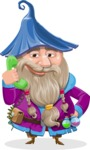 Wizard with Beard Cartoon Vector Character AKA Osborne the Magic Virtuoso - Support
