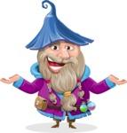Wizard with Beard Cartoon Vector Character AKA Osborne the Magic Virtuoso - Showcase 2