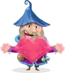 Wizard with Beard Cartoon Vector Character AKA Osborne the Magic Virtuoso - Love
