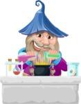 Wizard with Beard Cartoon Vector Character AKA Osborne the Magic Virtuoso - Making Magic