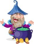 Wizard with Beard Cartoon Vector Character AKA Osborne the Magic Virtuoso - Making Decoction 1