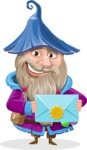 Wizard with Beard Cartoon Vector Character AKA Osborne the Magic Virtuoso - Mail