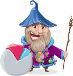 Wizard with Beard Cartoon Vector Character AKA Osborne the Magic Virtuoso - Chart