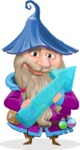 Wizard with Beard Cartoon Vector Character AKA Osborne the Magic Virtuoso - Arrow 2
