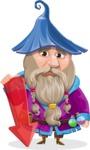Wizard with Beard Cartoon Vector Character AKA Osborne the Magic Virtuoso - Arrow 3