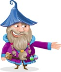 Wizard with Beard Cartoon Vector Character AKA Osborne the Magic Virtuoso - Show 1