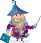 Wizard with Beard Cartoon Vector Character AKA Osborne the Magic Virtuoso - Briefcase
