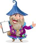 Wizard with Beard Cartoon Vector Character AKA Osborne the Magic Virtuoso - Notepad