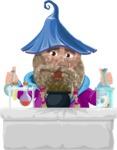 Wizard with Beard Cartoon Vector Character AKA Osborne the Magic Virtuoso - Broken