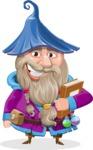 Wizard with Beard Cartoon Vector Character AKA Osborne the Magic Virtuoso - Book