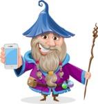 Wizard with Beard Cartoon Vector Character AKA Osborne the Magic Virtuoso - iPhone