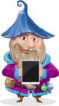 Wizard with Beard Cartoon Vector Character AKA Osborne the Magic Virtuoso - Tablet 1