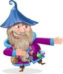 Wizard with Beard Cartoon Vector Character AKA Osborne the Magic Virtuoso - Show 2