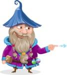 Wizard with Beard Cartoon Vector Character AKA Osborne the Magic Virtuoso - Point 1