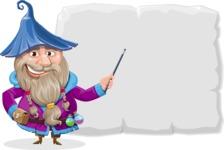 Wizard with Beard Cartoon Vector Character AKA Osborne the Magic Virtuoso - Presentation 1
