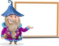 Wizard with Beard Cartoon Vector Character AKA Osborne the Magic Virtuoso - Presentation 2