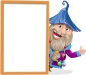Wizard with Beard Cartoon Vector Character AKA Osborne the Magic Virtuoso - Presentation 3