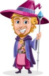 Sorcerer Cartoon Vector Character AKA Magnus the Great Enchanter - Normal