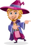Sorcerer Cartoon Vector Character AKA Magnus the Great Enchanter - Point 2
