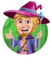Sorcerer Cartoon Vector Character AKA Magnus the Great Enchanter - Shape 1