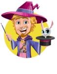 Sorcerer Cartoon Vector Character AKA Magnus the Great Enchanter - Shape 2