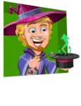 Sorcerer Cartoon Vector Character AKA Magnus the Great Enchanter - Shape 3