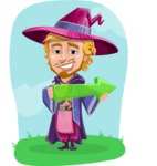 Sorcerer Cartoon Vector Character AKA Magnus the Great Enchanter - Shape 6