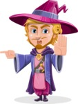 Sorcerer Cartoon Vector Character AKA Magnus the Great Enchanter - Direct Attention 1