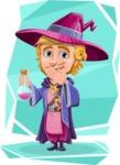 Sorcerer Cartoon Vector Character AKA Magnus the Great Enchanter - Shape 10