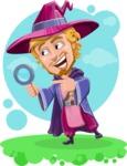 Sorcerer Cartoon Vector Character AKA Magnus the Great Enchanter - Shape 12