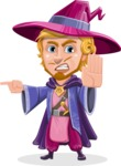 Sorcerer Cartoon Vector Character AKA Magnus the Great Enchanter - Direct Attention 2