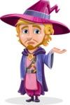 Sorcerer Cartoon Vector Character AKA Magnus the Great Enchanter - Sorry