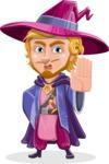 Sorcerer Cartoon Vector Character AKA Magnus the Great Enchanter - Stop 1