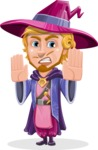 Sorcerer Cartoon Vector Character AKA Magnus the Great Enchanter - Stop 2