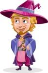 Sorcerer Cartoon Vector Character AKA Magnus the Great Enchanter - Roll Eyes