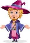 Sorcerer Cartoon Vector Character AKA Magnus the Great Enchanter - Lost