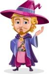 Sorcerer Cartoon Vector Character AKA Magnus the Great Enchanter - Duckface