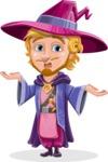 Sorcerer Cartoon Vector Character AKA Magnus the Great Enchanter - Confused