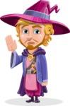 Sorcerer Cartoon Vector Character AKA Magnus the Great Enchanter - GoodBye