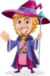 Sorcerer Cartoon Vector Character AKA Magnus the Great Enchanter - Hello