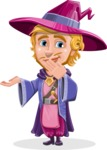 Sorcerer Cartoon Vector Character AKA Magnus the Great Enchanter - Oops